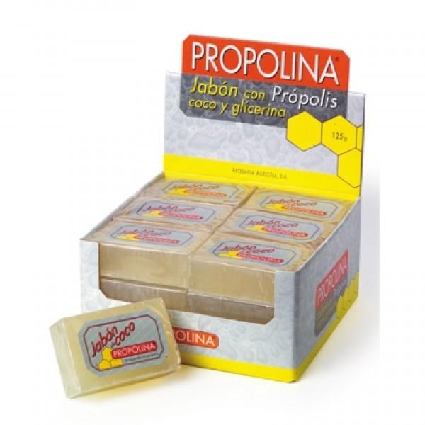 Jabón propolis con coco + glicerina 125g