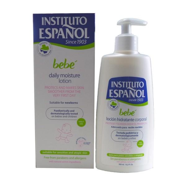 Instituto español bebe locion corporal hidratante recien nacido piel sensible sin alergenos 300ml
