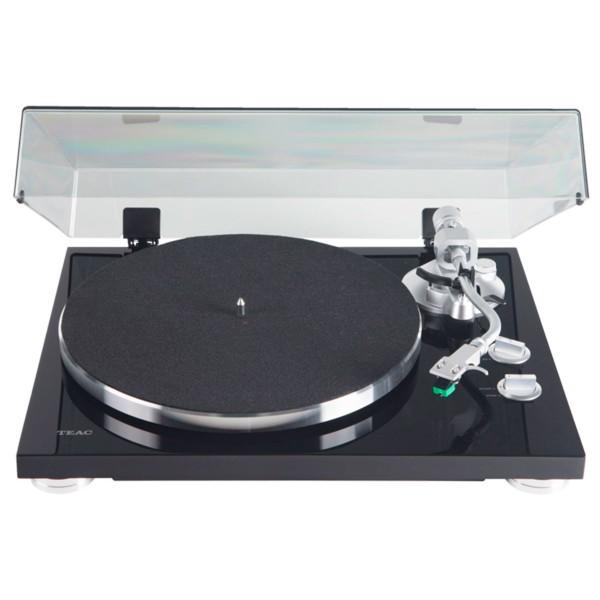 Teac tn-350 negro tocadiscos analógico de 2 velocidades con phono eq