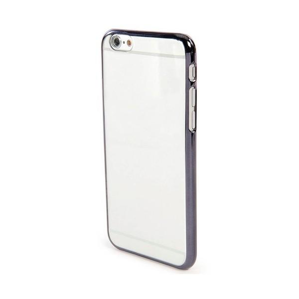 Jc carcasa transparente apple iphone 5 / 5s / se transparente borde metálico